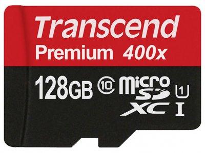 رم میکرو اسدی 128 گیگابایت Transcend Class 10 Premium 400X