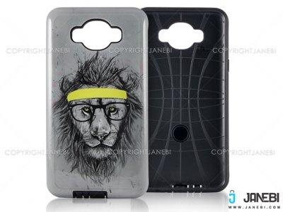 قاب محافظ گوشی سامسونگ طرح شیر Mobile Case Samsung J7 2016