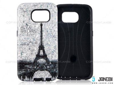 قاب محافظ سامسونگ طرح برج ایفل Mobile Case Samsung Galaxy S6