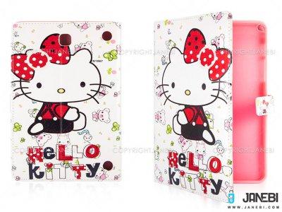 کیف تبلت سامسونگ طرح کیتی سفید Colourful Case Samsung Galaxy Tab A 8.0 Kitty