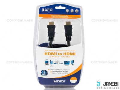 کابل اچ دی ام آی بافو BAFO HDMI Round Cable With Tinplate 3m