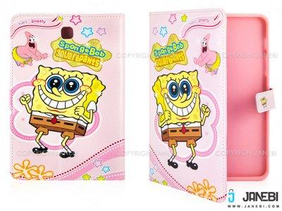 کیف تبلت سامسونگ طرح باب اسفنجی صورتی Colourful Case Samsung Galaxy Tab S2 8.0 SpongeBob