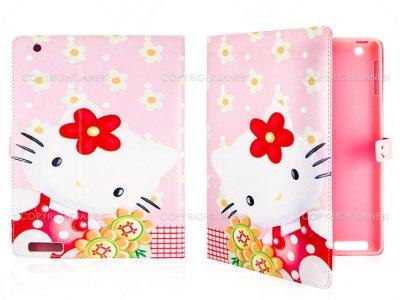 کیف آیپد طرح کیتی گلدار Colourful Case iPad 2/3/4 Kitty