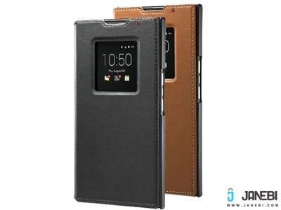 کیف چرمی اصلی بلک بری Leather Smart Flip Cover BlackBerry Priv