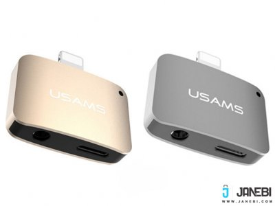 مبدل صدا لایتنینگ یوسامس Usams 2 In 1 Lightning adapter