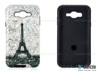 قاب محافظ سامسونگ طرح برج ایفل Mobile Case Samsung Galaxy J7