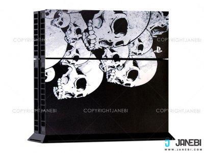 کاور اسکین کنسول بازی پلی استیشن 4 PS4 Skin Wensoni Mix Skull