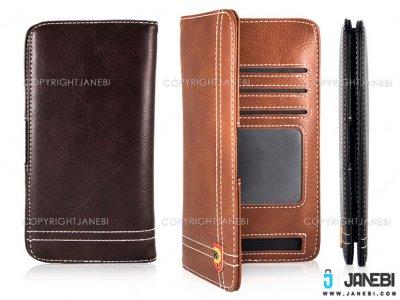 کیف چرمی گوشی تا سایز 5.5 اینچ JDK Leather Mobile Cover 5.5 Inch