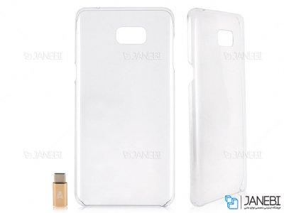 قاب محافظ و کانکتور تایپ سی سامسونگ Samsung Galaxy C9 Pro Transparent Case