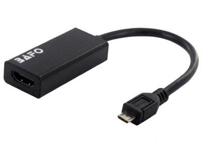 مبدل ام اچ ال ورژن 3 به اچ دی ام آی بافو BAFO MHL 3.0 Micro USB to HDMI BF-H900