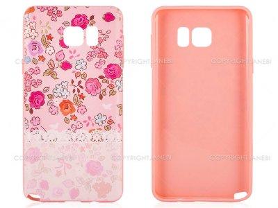 محافظ ژله ای سامسونگ طرح گل Mobile Case Samsung Galaxy Note 5