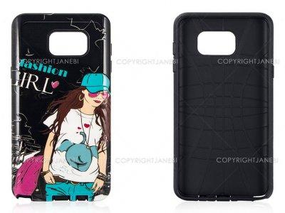 قاب محافظ سامسونگ طرح دختر Mobile Case Samsung Galaxy Note 5