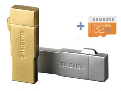 دستگاه چند کاره کارت خوان 32 گیگابایت Samsung Metal OTG/USB/Card