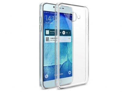 محافظ شیشه ای - ژله ای سامسونگ Samsung Galaxy A8 2016 Transparent Cover