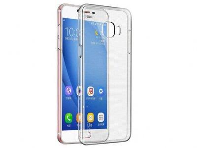 محافظ شیشه ای - ژله ای سامسونگ Samsung Galaxy C5 Transparent Cover