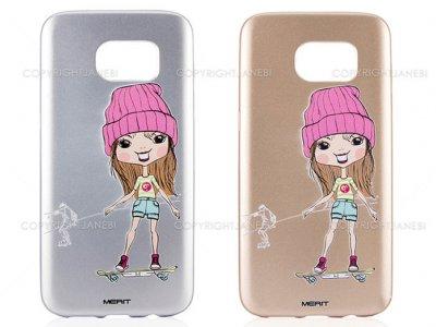 محافظ ژله ای سامسونگ طرح دختر اسکیت سوار Merit Case Samsung Galaxy S7 Edge