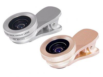 لنز واید و ماکرو گوشی موبایل لی کیو آی LIEQI LQ-034 HD 0.4X-0.6X Wide Angle And 15X Macro