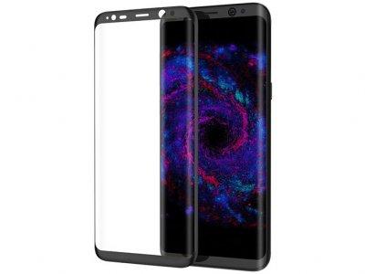 محافظ صفحه نمایش شیشه ای بیسوس سامسونگ Baseus 3D Arc Screen Protector Samsung Galaxy S8 Plus