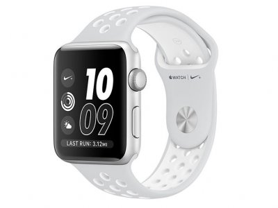 اپل واچ سری 2 مدل Apple Watch 38mm Nike Plus Silver Case With Platinum/White Sport Band