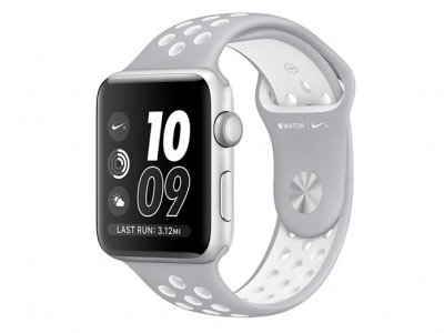 اپل واچ سری 2 مدل Apple Watch 38mm Nike Plus Silver Aluminum Case With Silver/White Sport Band