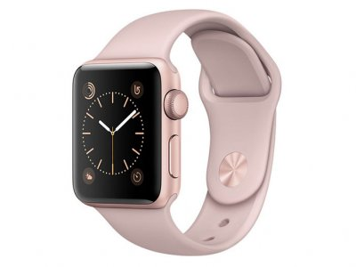 اپل واچ سری 2 مدل Apple Watch 38mm Rose Gold Case With Pink Sand Sport Band