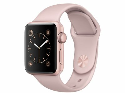 اپل واچ سری 2 مدل Apple Watch 42mm Rose Gold Case With Pink Sand Sport Band