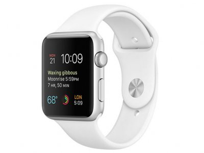 اپل واچ سری 2 مدل Apple Watch 42mm Silver Case With White Sport Band