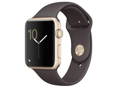 اپل واچ سری 2 مدل Apple Watch 38mm Gold Case With Cocoa Sport Band