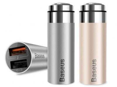 شارژر فندکی سریع بیسوس Baseus CarQ Series QC3.0 Dual Port Car Charger