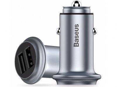 شارژر فندکی سریع بیسوس Baseus UFO Dual U Smart Car Charge