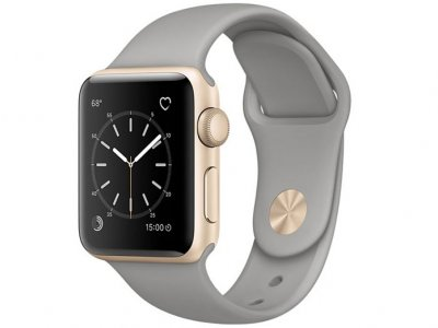 اپل واچ سری 2 مدل Apple Watch 38mm Gold Case With Concrete Sport Band