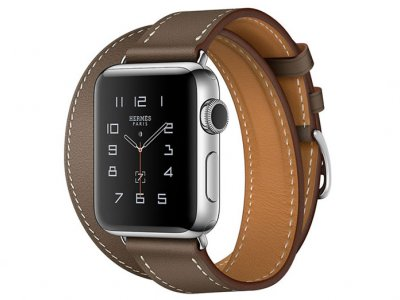اپل واچ سری 2 مدل Apple Watch 38mm Hermes Etoupe Swift Leather Double Tour