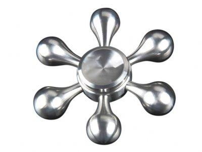 اسپینر فلزی شش پره ای طرح سکان 1 Fidget Spinner Rudder