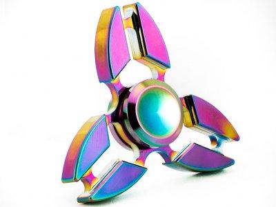 اسپینر فلزی طرح دار رنگین کمانی Fidget Spinner Metal Rainbow