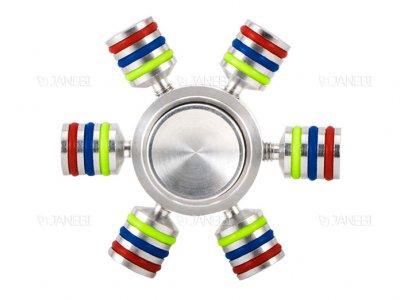 اسپینر فلزی سه خطی شش پره ای Fidget Spinner Linear