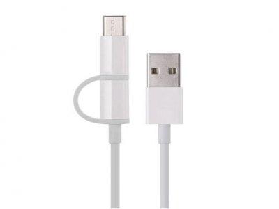 کابل شارژ و انتقال داده دو سر شیائومی Xiaomi Micro USB And Type-C Cable SJX02ZM