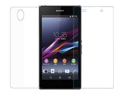 محافظ صفحه نمایش شیشه ای پشت و رو سونیGlass Back And Screen Protector Sony Xperia Z1