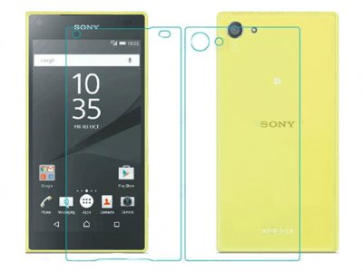 محافظ صفحه نمایش شیشه ای پشت و رو سونی  Glass Back And Screen Protector Sony Xperia Z5 Compact