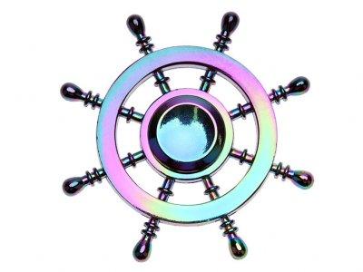 اسپینر فلزی سکان کشتی رنگین کمانی Fidget Spinner Metal Rainbow Steering The Ship