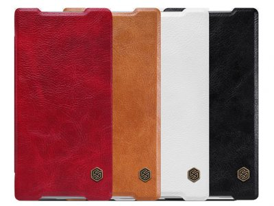 کیف چرمی نیلکین سونی Nillkin Qin Leather Case Sony Xperia Z5