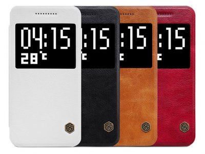 کیف چرمی نیلکین اچ تی سی Nillkin Qin Leather Case HTC One A9