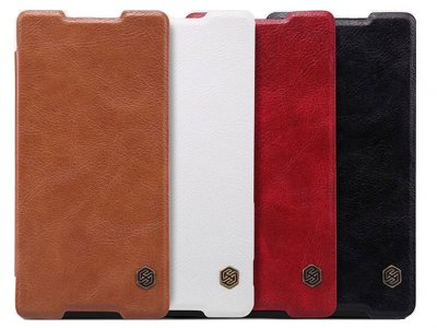 کیف چرمی نیلکین سونی Nillkin Qin Leather Case Sony Xperia Z3 Plus