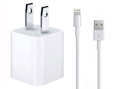 شارژر اصلی آیفون همراه با کابل Apple iphone AC Charger Adapter 2 Pin