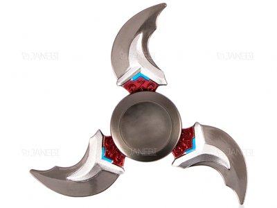 اسپینر فلزی سه پره ای طرح شوریکن 7 Fidget Spinner Metal Shuriken