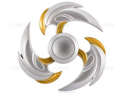 اسپینر فلزی سه پره ای طرح شوریکن 12 Fidget Spinner Metal Shuriken