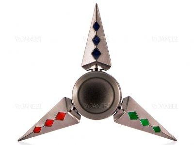 اسپینر فلزی سه پره ای طرح شوریکن 13 Fidget Spinner Metal Shuriken