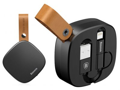 کابل شارژ و انتقال داده لایتنینگ و میکرویو اس بی بیسوس Baseus Flexible Certified Cable