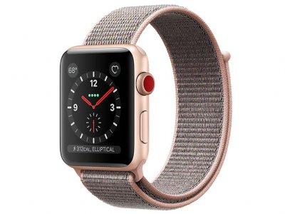 اپل واچ سری 3 مدل Apple Watch 42mm GPS+Cellular Gold Aluminum Case Pink Sand Sport Loop