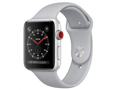 اپل واچ سری 3 مدل Apple Watch 42mm GPS+Cellular Silver Aluminum Case Fog Sport Band
