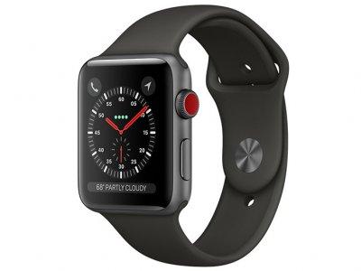 اپل واچ سری 3 مدل Apple Watch 42mm GPS+Cellular Space Gray Aluminum Case Gray Sport Band
